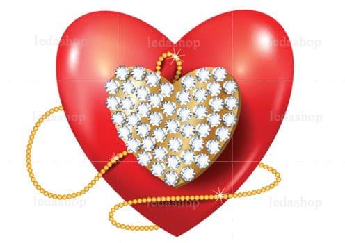 وکتور قلب سه بعدی لایه باز