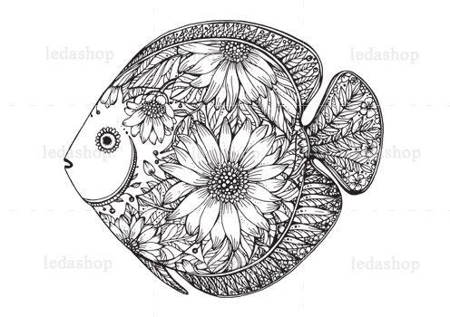 وکتور ماهی گلی لایه باز