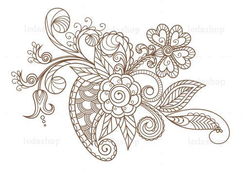 وکتور گل و بوته لایه باز
