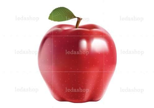 وکتور سیب قرمز عید لایه باز