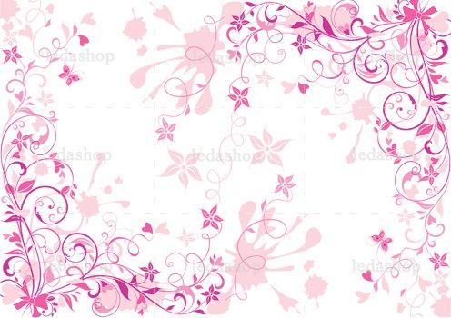 وکتور گل پس زمینه لایه باز