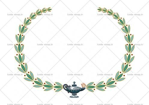 وکتور تاج گل ایرانی سنتی