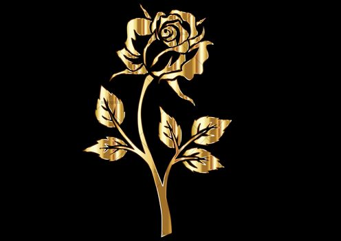 وکتور گل رز طلایی لایه باز