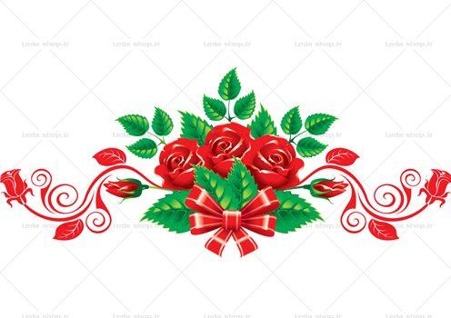 وکتور گل رز قرمز