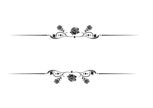 وکتور حاشیه گل رز مشکی