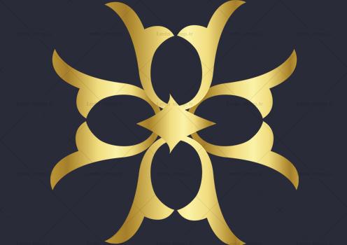 وکتور گل طلایی لایه باز